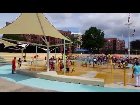 Aquajeux Spray Park Equipment At Crotona Park Pool