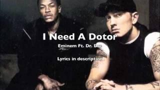 I Need A Doctor (HQ) - Eminem Ft. Dr Dre w/ Lyrics