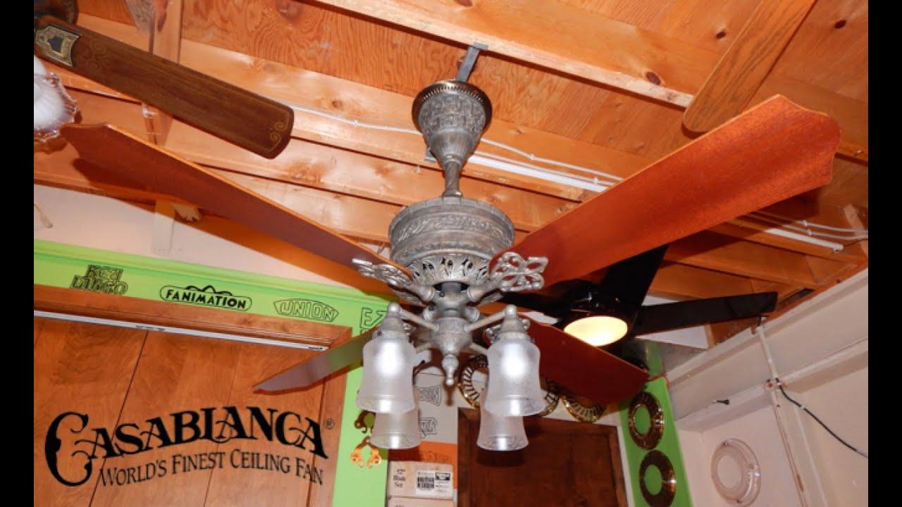 Casablanca 19th Century Ceiling Fan Youtube