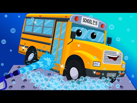 School Bus Car Wash | Toy Car Wash | Games for Kids & Toddlers