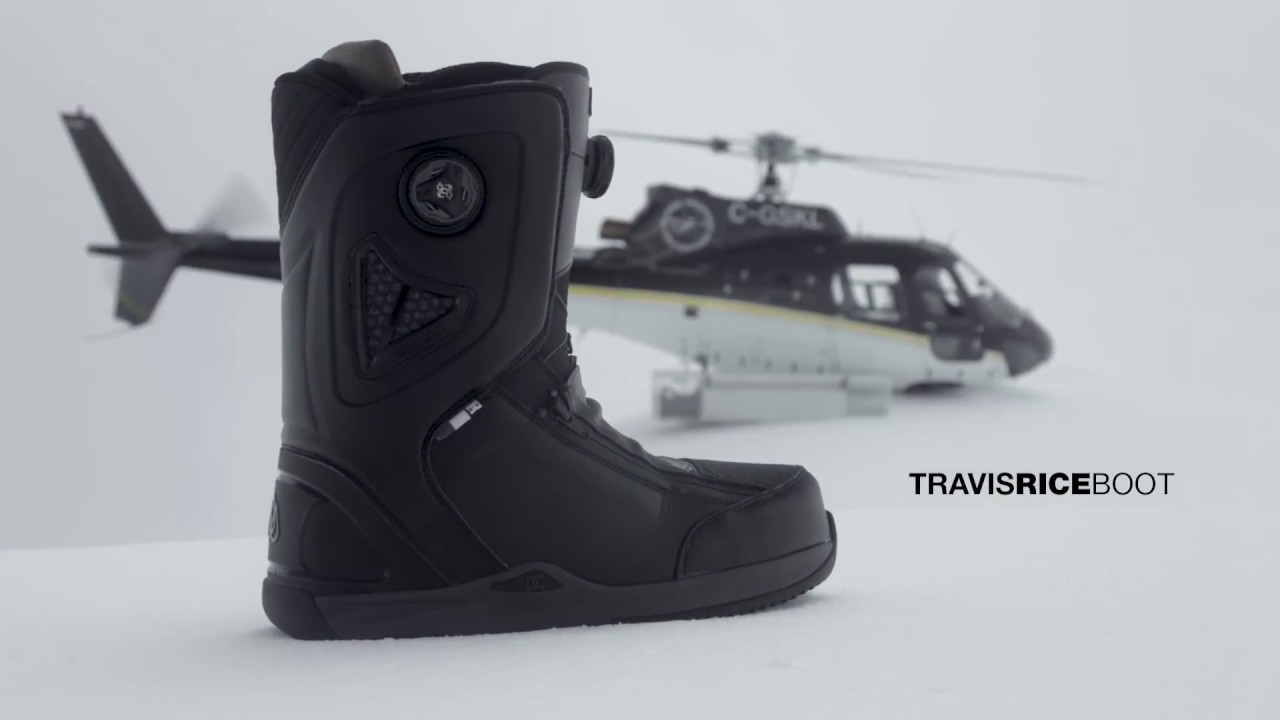 sports shoes faa6b 679d8 DC SNOWBOARDING: THE TRAVIS RICE BOOT WINTER 2018