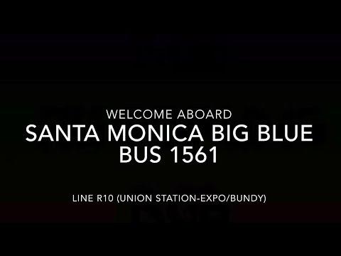 (EXPRESS) Santa Monica Big Blue Bus 2015 New Flyer XN60 #1561 | Coin Lloyd's Transit Hub
