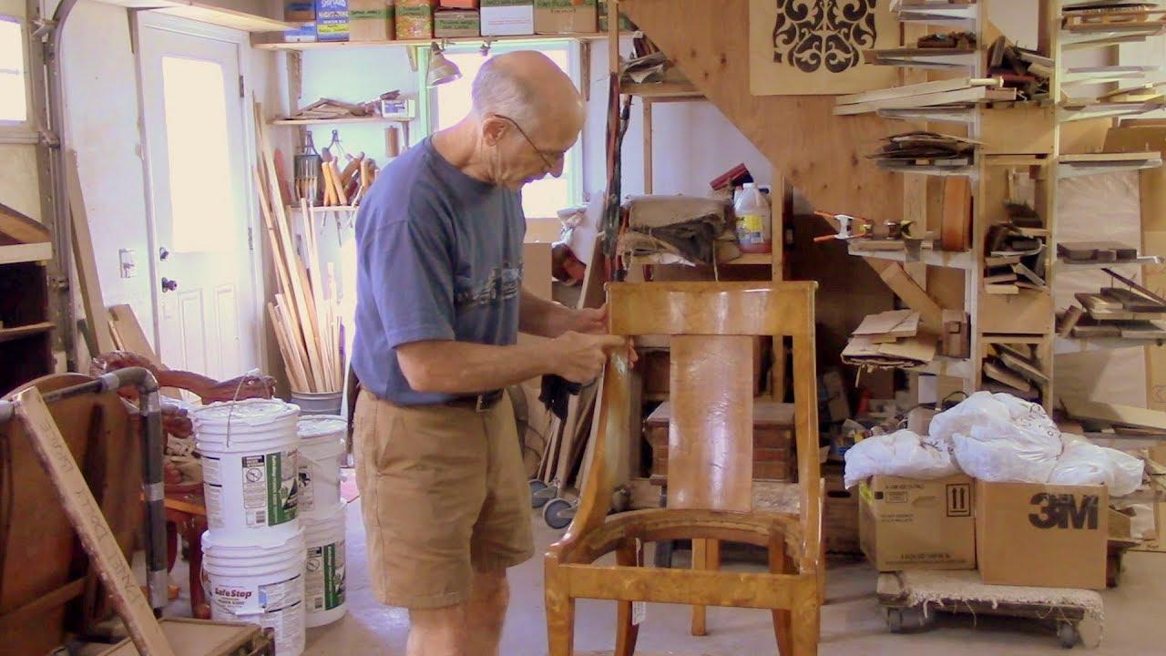 Restoring An Antique Gondola Chair Thomas Johnson Antique