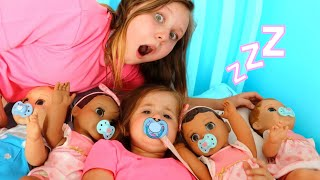 Ruby helps Babies! Kids Pretend Play with Baby Dolls feeding and morning routine video thumbnail