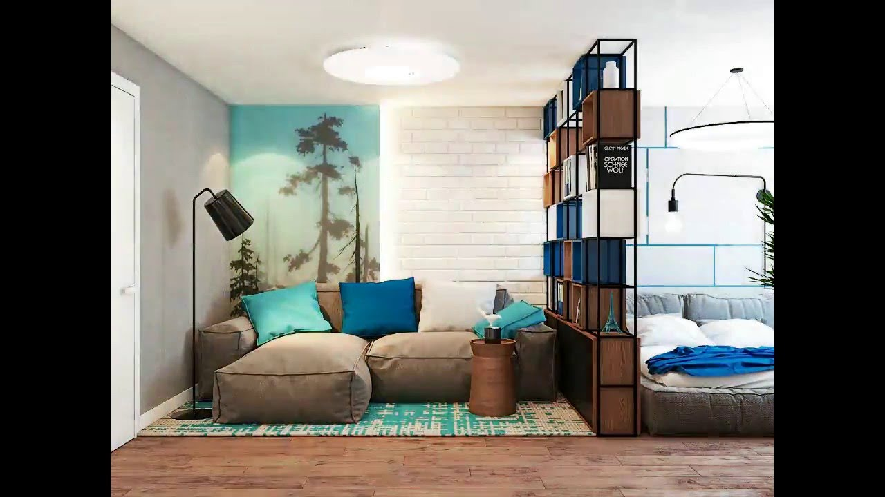 Marvelous 4 Charming Blue Accent Apartments With Compact Layouts