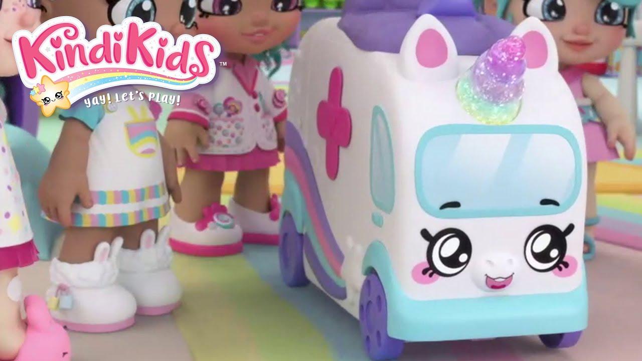 Download Meet the Petkins - Pick Up Pup and Zoom the Ambulance Unicorn! | COMPILATION! | KINDI KIDS