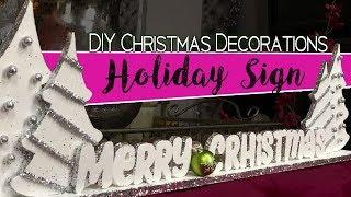 DIY Dollar Tree Christmas Decorations - Holiday Sign