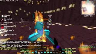 Minecraft [Extremecraft]: PvP war 10+ people