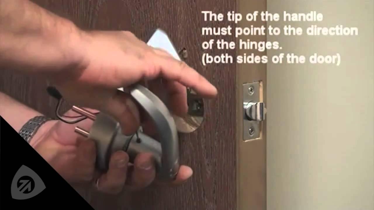 How to Install the Reversible Keyless Fingerprint Lock - YouTube