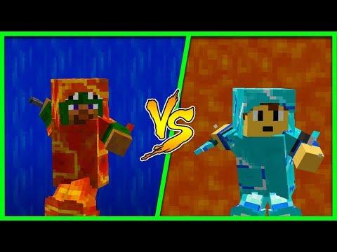 Minecraft - LAVA VS WATER ARMOUR CHALLENGE!