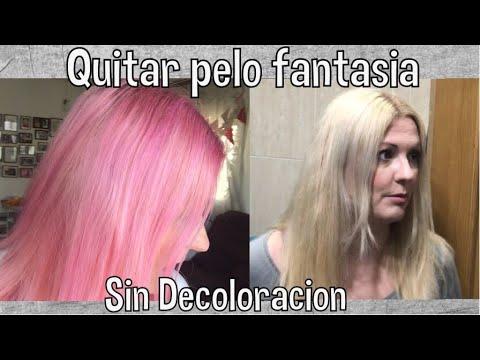 Quitar Pelo Fantasía Rosa Sin Decoloración Djvanesa Youtube