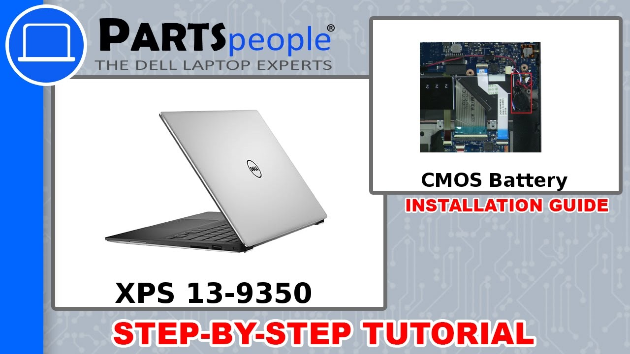 Dell XPS 13-9350 (P54G002) CMOS Battery Removal & Installation