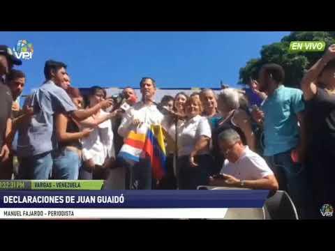 Primeras palabras de Juan Guaidó luego de ser liberado 'El Juego Cambió'