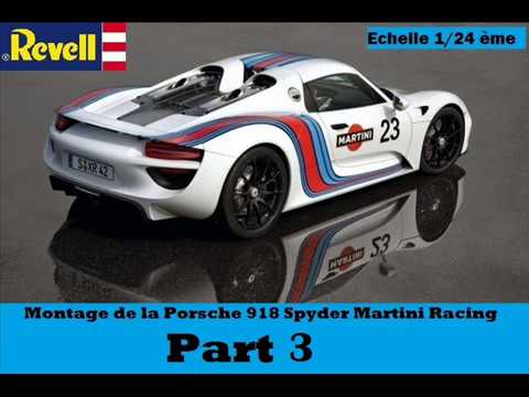 porsche 918 spyder martini racing revell 1 24 me montage part 3 youtube. Black Bedroom Furniture Sets. Home Design Ideas