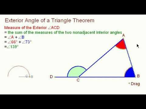 Exterior Angle Of A Triangle Youtube