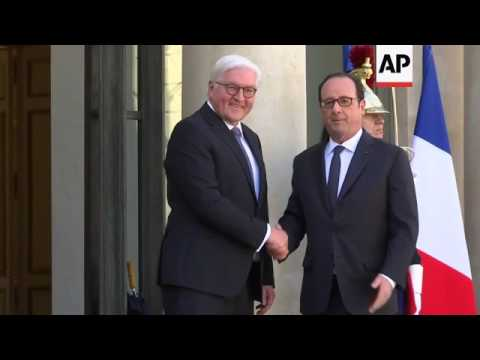 Hollande meets Germany's Steinmeier