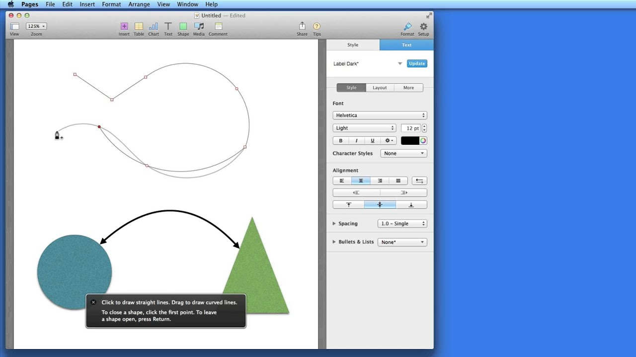 Drawing diagrams in pages - Pages For Mac Tutorial Shapes Lines