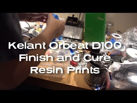 DIY UV Curing Finishing Station + How to Clean and Cure Resin 3D Prints - Kelant Orbeat D100 Pt 3