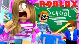 ROBLOX Little Leah Plays - EVIL TEACHER EXPELLED ME FROM SCHOOL - ESCAPE HIGH SCHOOL OBBY!!