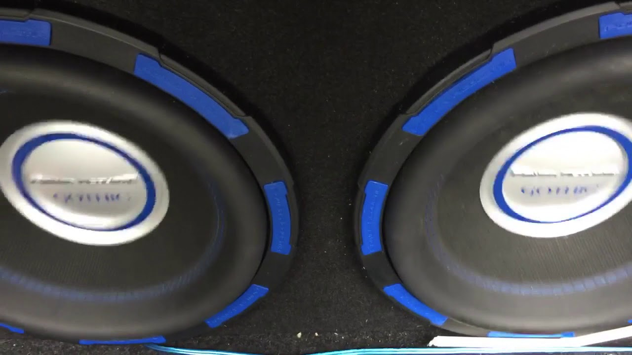 New speaker box with 2 power acoustic gothic subs on 2,500