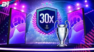 30 x CHAMPIONS LEAGUE PLAYER PACKS! | FIFA 19 ULTIMATE TEAM