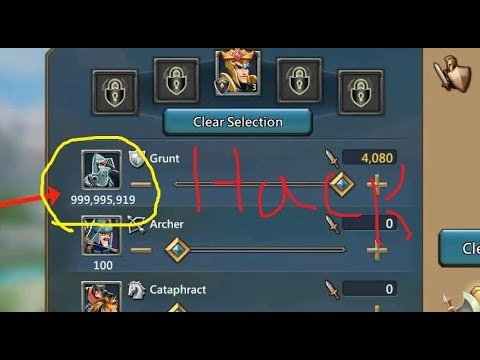Lords Mobile Infantry Hack 999M [Working 100%]- Troops Tier 1 Infantry Hack