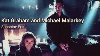 Kat Graham and Michael Malarkey