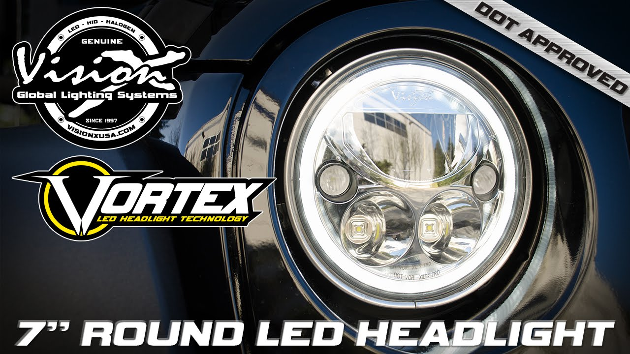 Vision X Dot Approved 7 Quot Round Vortex Led Halo Headlight