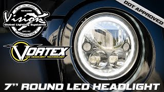 "Vision X DOT Approved 7"" Round Vortex LED Halo Headlight"