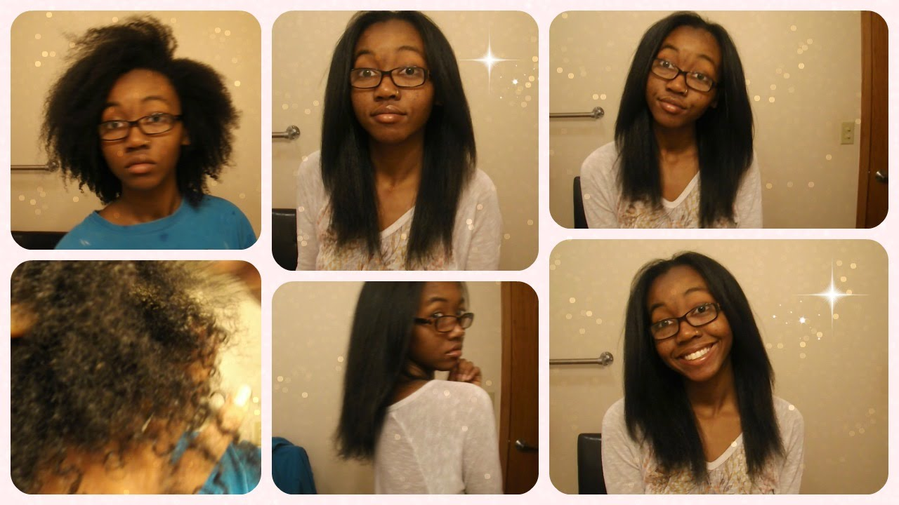 Type 4 Hairstyles: Straightening My Natural Type 4 Hair