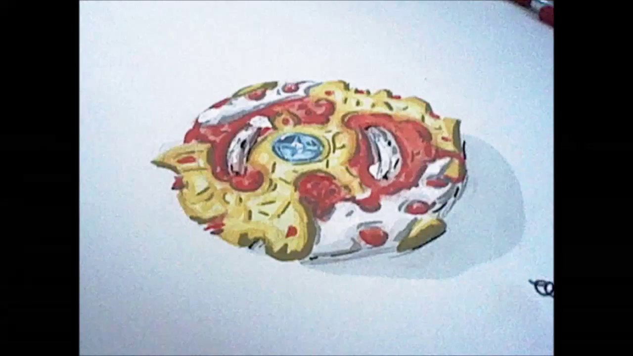 Speed Drawing Toupie Beyblade Burst Requiem Spryzen