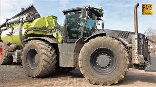 Gülle fahren - Claas Xerion 5000 Black Edition - KAWECO DOUBLE TWIN SHIFT - Driving slurry Germany