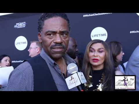 Richard Lawson and Tina Knowles on the red...