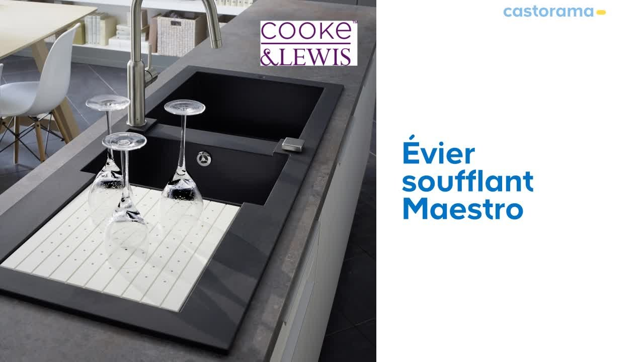 évier Soufflant 2 Cuves égouttoir Maestro Cooke Lewis 679912 Castorama