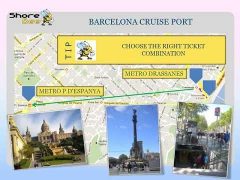 The Barcelona cruise port