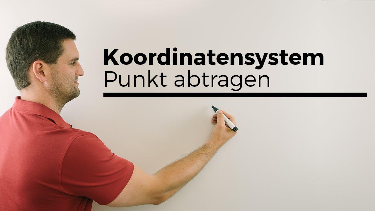 Koordinatensystem, Punkt abtragen/ablesen, Koordinaten | Mathe by ...