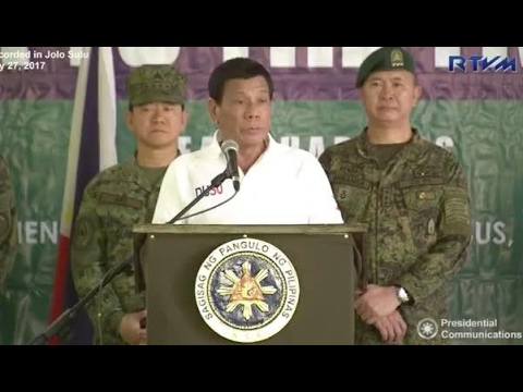 Duterte explains urgency of imposing martial law in Mindanao