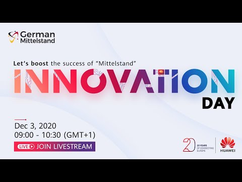 European Innovation Day 2020 - Germany Livestream