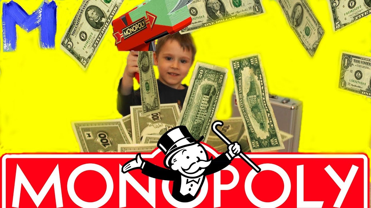 MONOPOLY - Деньги на воздух . Игра для всей семьи.  Видео для детей