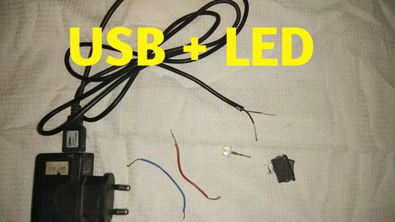 how to connect led light to a usb charger wire very easy [ 1280 x 720 Pixel ]