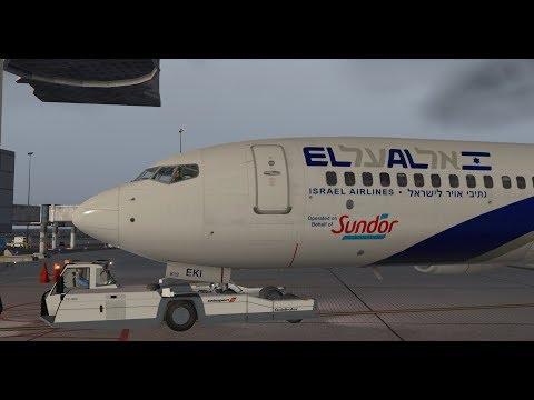 X-Plane 11 | IVAO/FSCloud | Frankfurt - Tel Aviv | El Al B737-800 [GER | ENG]