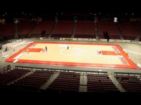 Men's Basketball || Bon Secours Wellness Arena Court Transformation