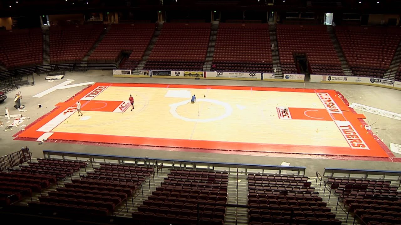 Men s Basketball Bon Secours Wellness Arena Court Transformation