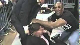 Goldberg gets tired of the NWO beatdowns