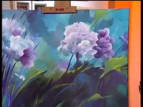 Monitor gabriela mensaque pintando flores con acr licos - Cuadros abstractos paso a paso ...
