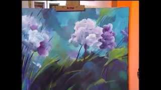 Repeat youtube video MONITOR | Gabriela Mensaque pintando flores con Acrílicos Profesionales Lautrec | Manos a la Obra