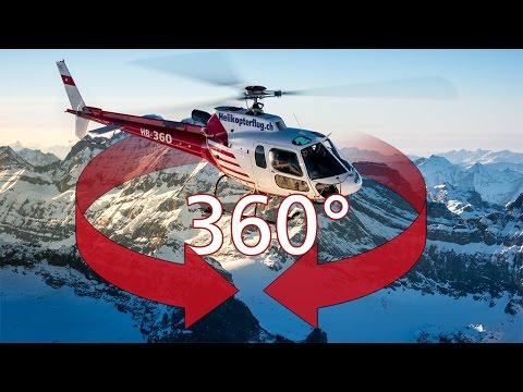 Faszinierende 360-Grad-Videos der Schweizer Alpen aus dem Helikopter