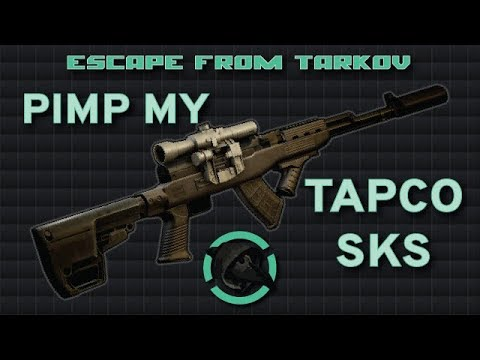 Tapco SKS Modding - 132 Recoil with any sight! - Escape from Tarkov