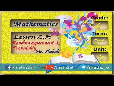 Lesson 2, 3 : Random experiment & Probability