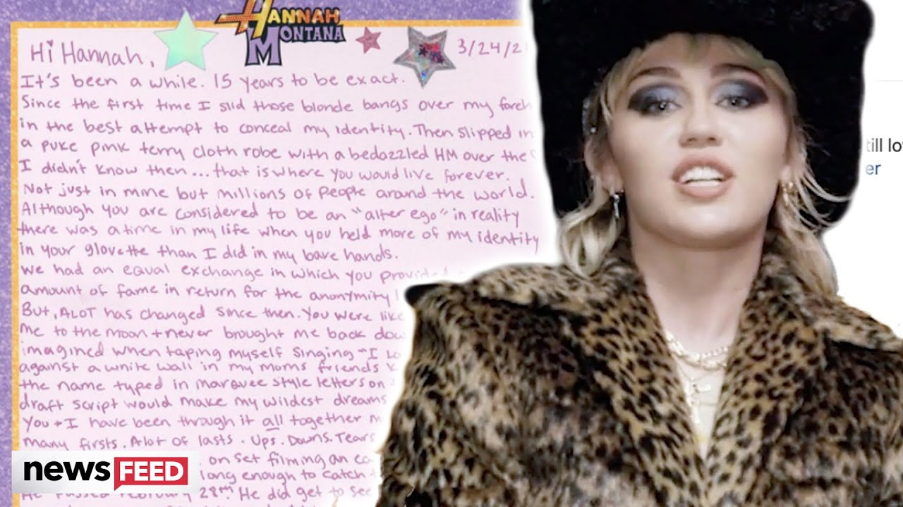 What Miley Cyrus Wrote in Her Letter to Hannah Montana